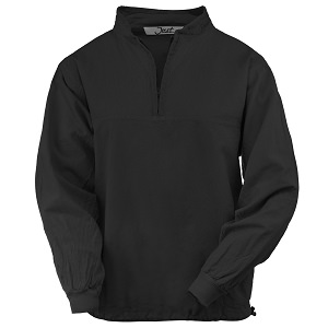 Ladies Honey-Komb Half Zip Sweatshirt Long Sleeves 100% Cotton Black