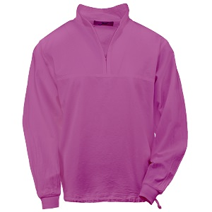 Ladies Honey-Komb Half Zip Sweatshirt Long Sleeves 100% Cotton Orchid