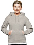 Ladies Hooded Pullover 80/20 Gray Mix