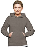 Ladies Hooded Pullover 80/20 charcoal Mix
