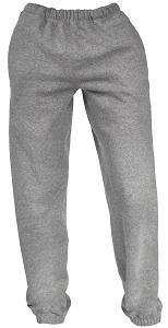 French Terry Unisex Sweatpants Gray Mix 100% Cotton
