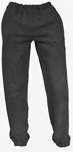 French Terry Unisex Sweatpants Dark Charcoal 100% Cotton