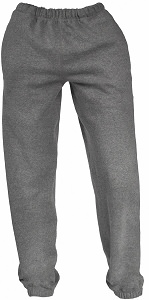 French Terry Unisex Sweatpants Salt n' Pepper 100% Cotton