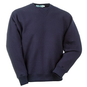 Crewneck Reverse Grain 100% Cotton Side Rib Dark Navy