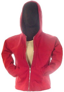 Ladies Sueded Fleece Hooded Pullover 80/20 Ruby Red