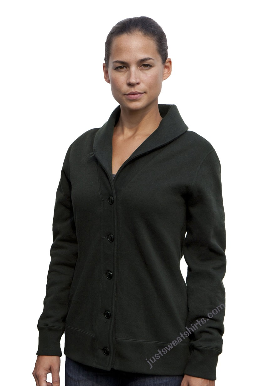 100 cotton french terry cardigan adult