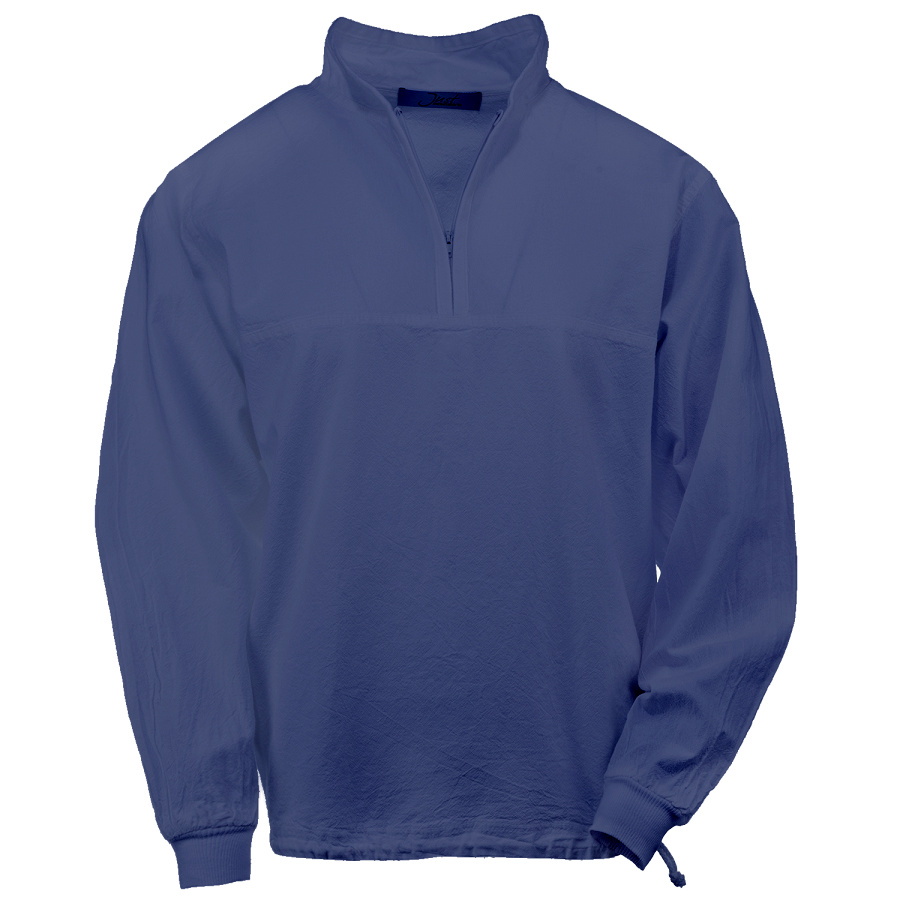 Ladies Honey-Komb Half Zip Sweatshirt Long Sleeves 100% Cotton Sapphire