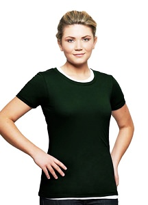 T-Shirt Ladies Short Sleeve 100% Cotton Park Green