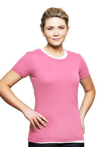 T-Shirt Ladies Short Sleeve 100% Cotton Pink