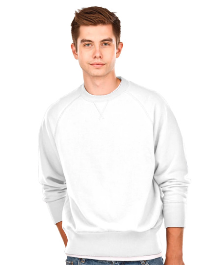 Fine French Terry Crewneck French Terry White 100% Cotton