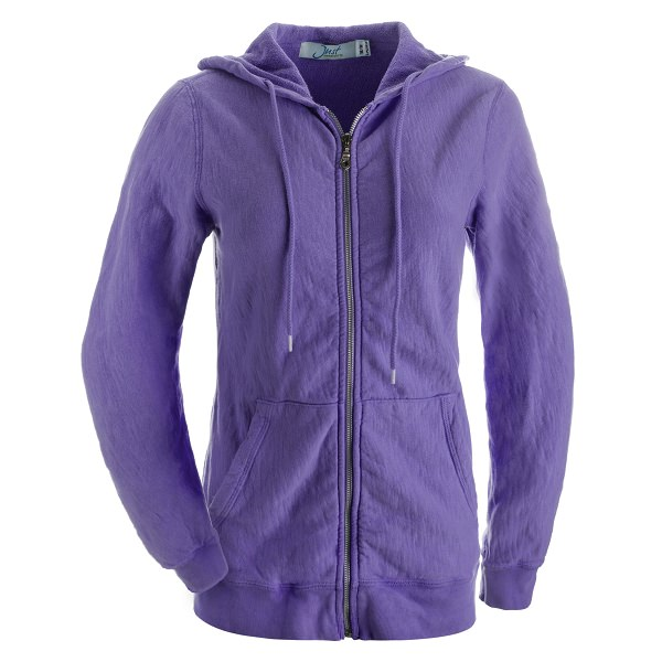 Ladies Hooded Zipper 14oz 100% Maché  Cotton Violet SALE