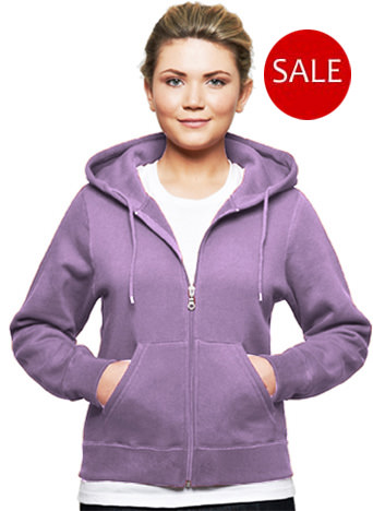 Ladies 80/20 Blend Zipper Hoodies