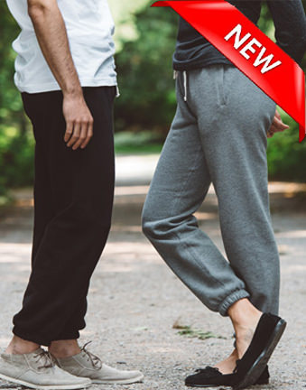 Unisex Sweatpants Fine French Terry 100% Cotton