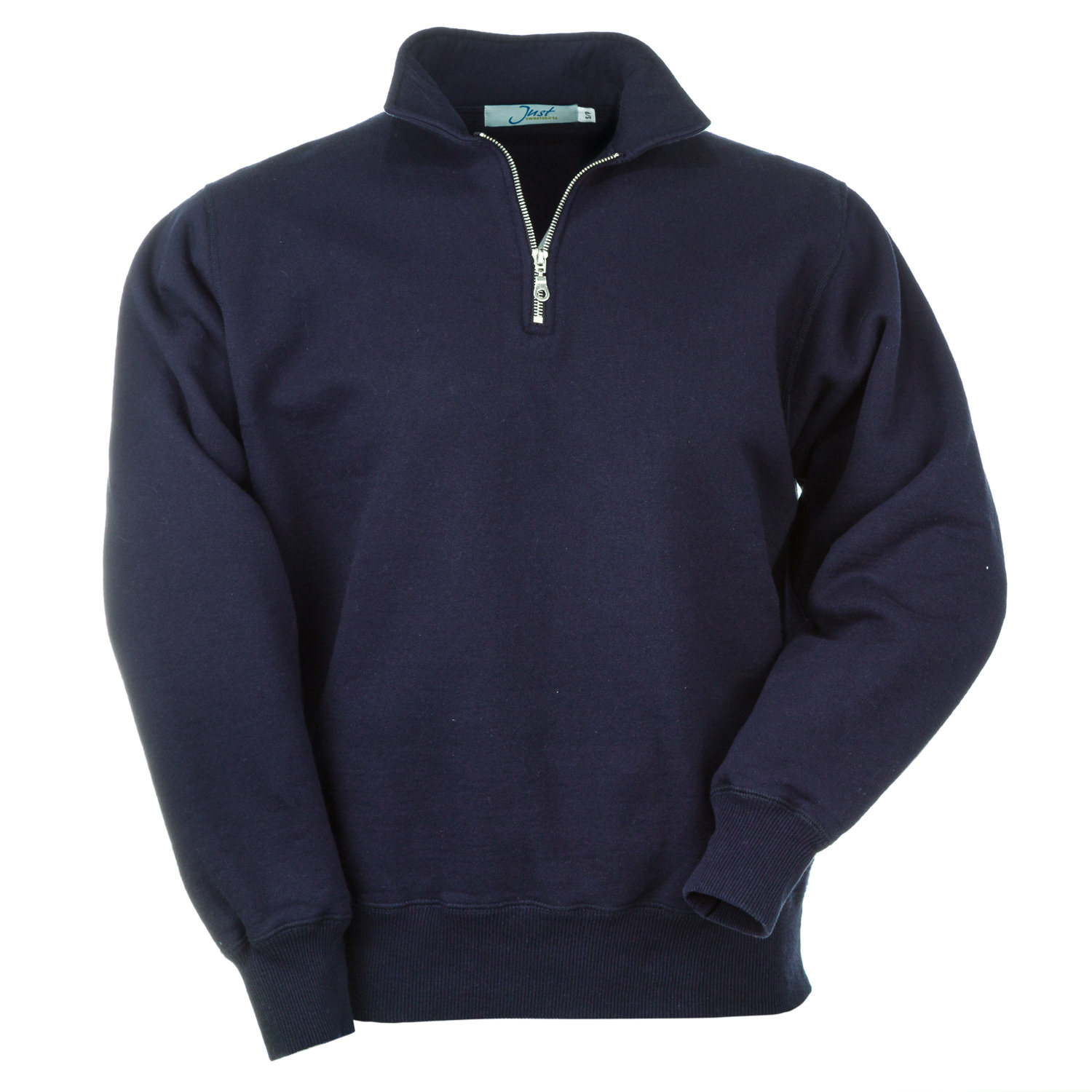 Zip Neck Dark Navy 100% Cotton