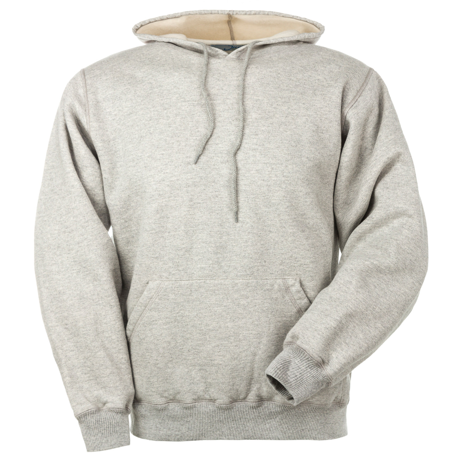 Hooded Pullover Gray Mix 95% Cotton