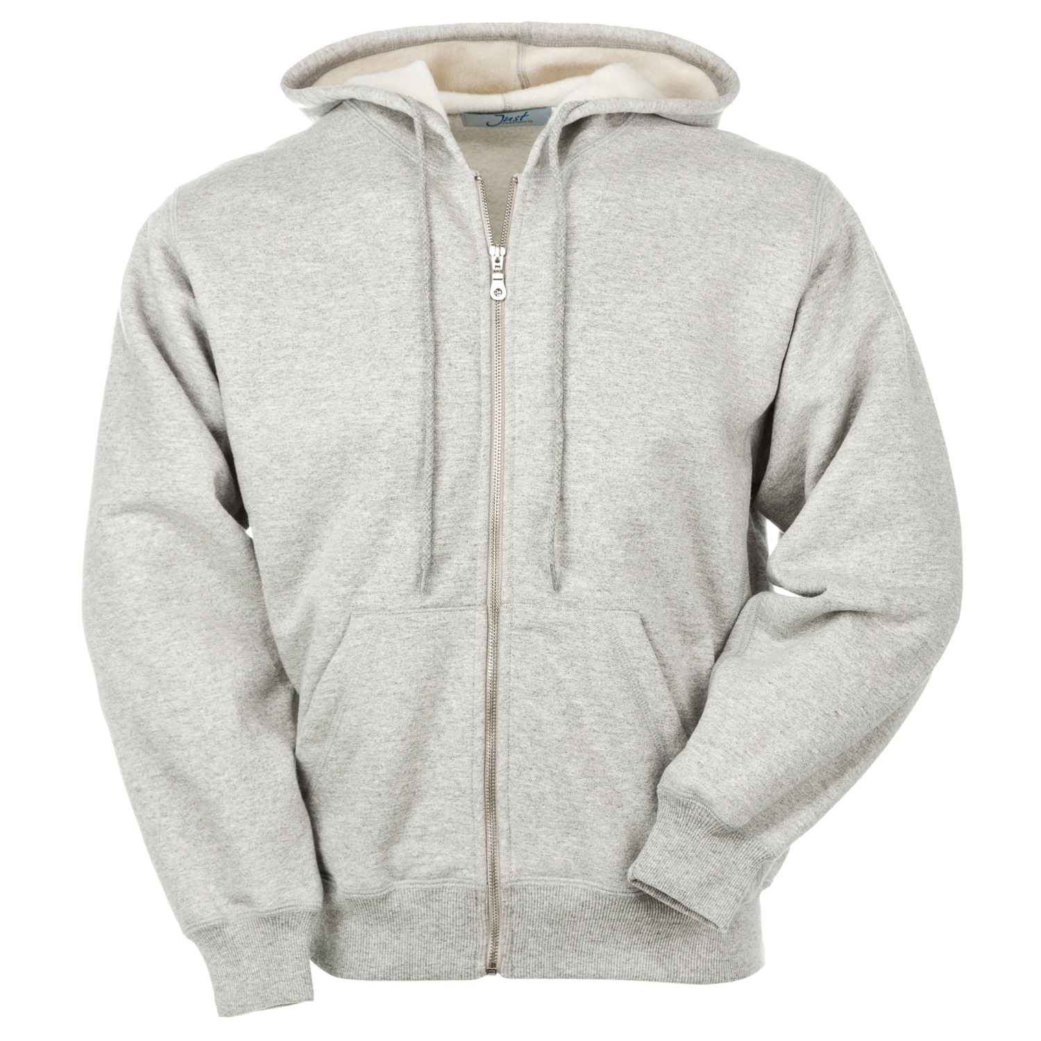 Hooded Full Front Zipper Grey Mix 95% Cotton