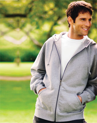 Men's Heavyweight 18 Oz Full Zip Hooded Sweatshirt