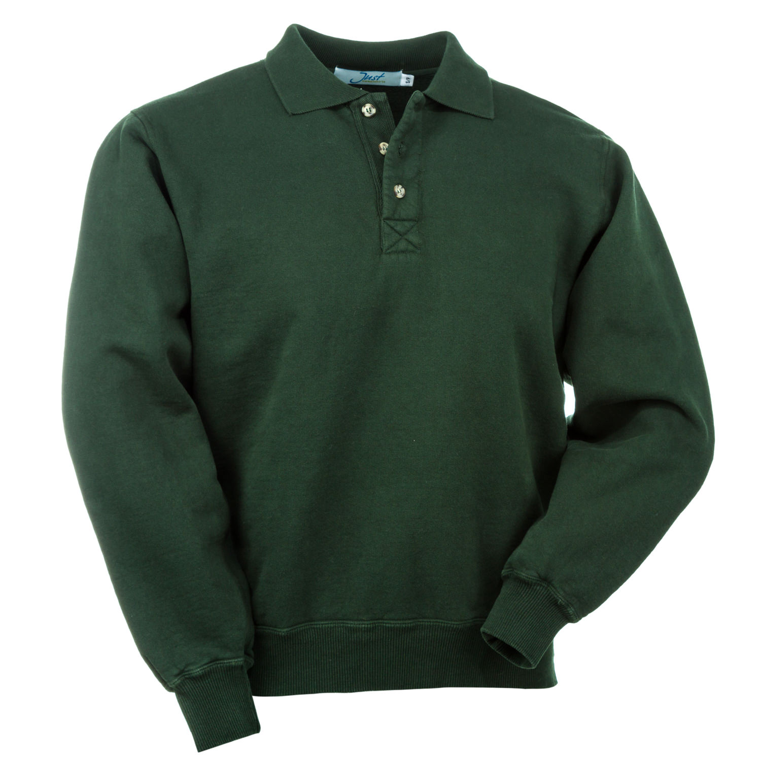 3 Button Polo Park Green 100% Cotton
