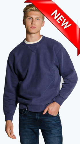 Reverse Grain Creneck with Side Rib 100% Cotton SALE $49.95