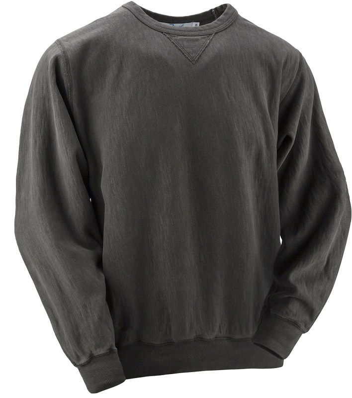 Crewneck V-notch 14oz 100% Maché  Cotton Charcoal