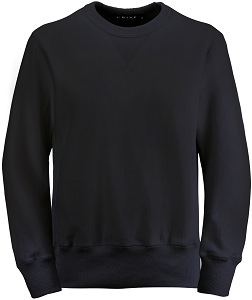 PRIVÉ Crewneck Black with Side Rib 100% Cotton