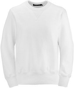 PRIVÉ Crewneck White with Side Rib 100% Cotton