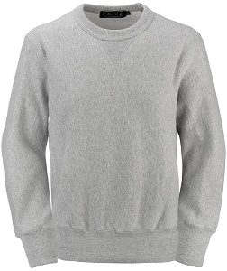 PRIVÉ Crewneck Gray Mix with Side Rib 100% Cotton