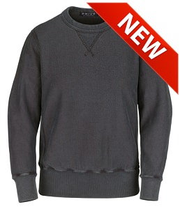 PRIVÉ Crewneck Charcoal with Side Rib 100% Cotton