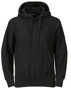 PRIVÉ Hoodie Black with Side Rib 100% Cotton