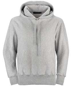 PRIVÉ Hoodie Gray with Side Rib 95% Cotton