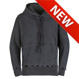 PRIVÉ Hoodie Charcoal with Side Rib 100% Cotton