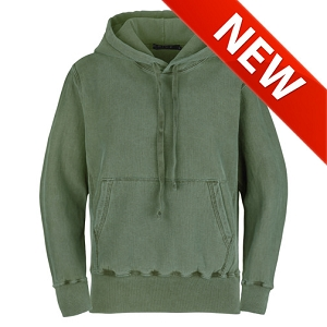 PRIVÉ Hoodie Olive Sand with Side Rib 100% Cotton