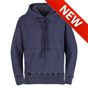 PRIVÉ Hoodie Navy Sand with Side Rib 100% Cotton