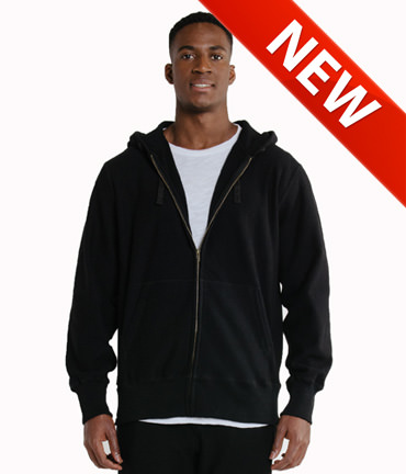 Privé Full Zip Hoodie Loop Back 100% COTTON