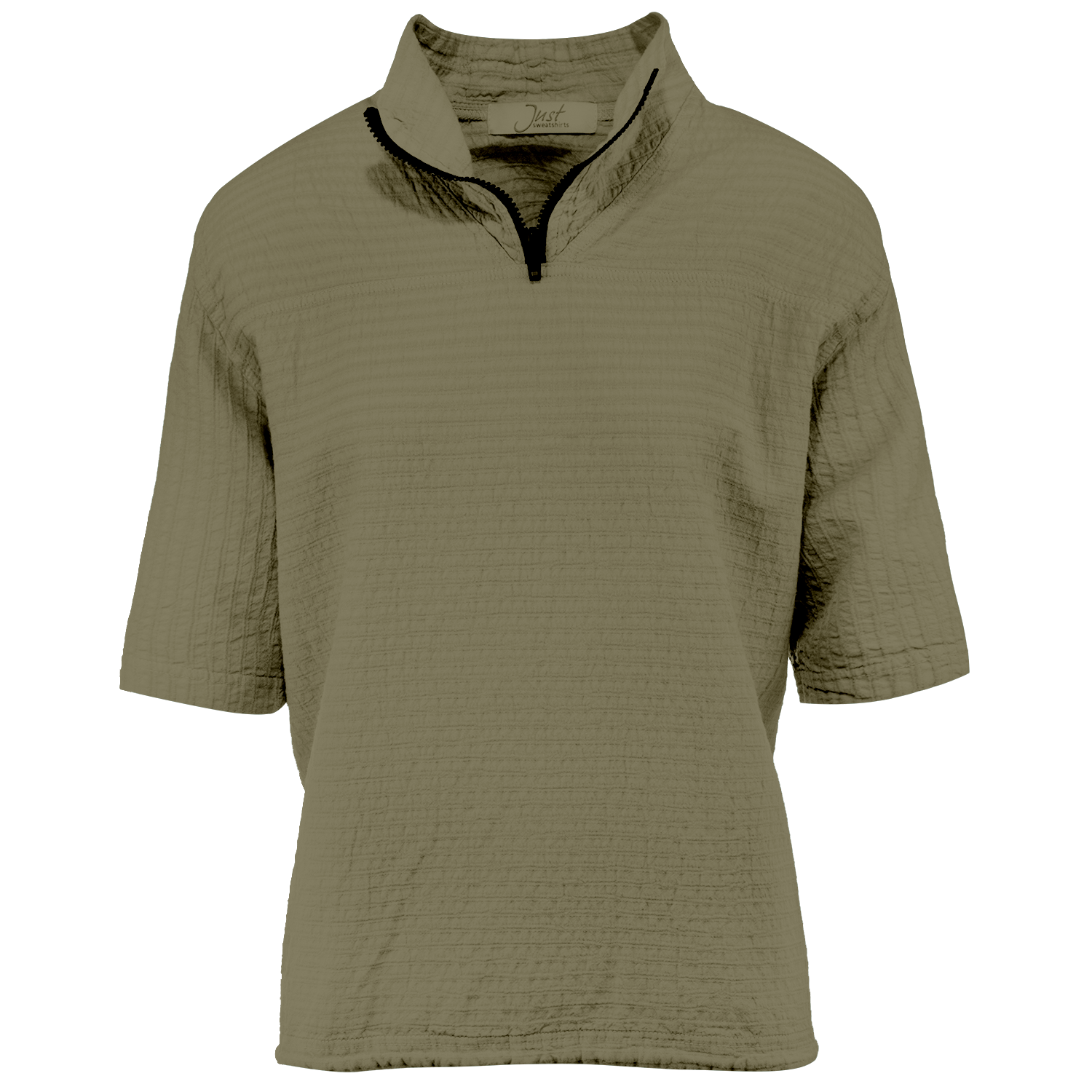 Ladies Mirage Cotton Half Zip Lightweight Top 100% Cotton Shade
