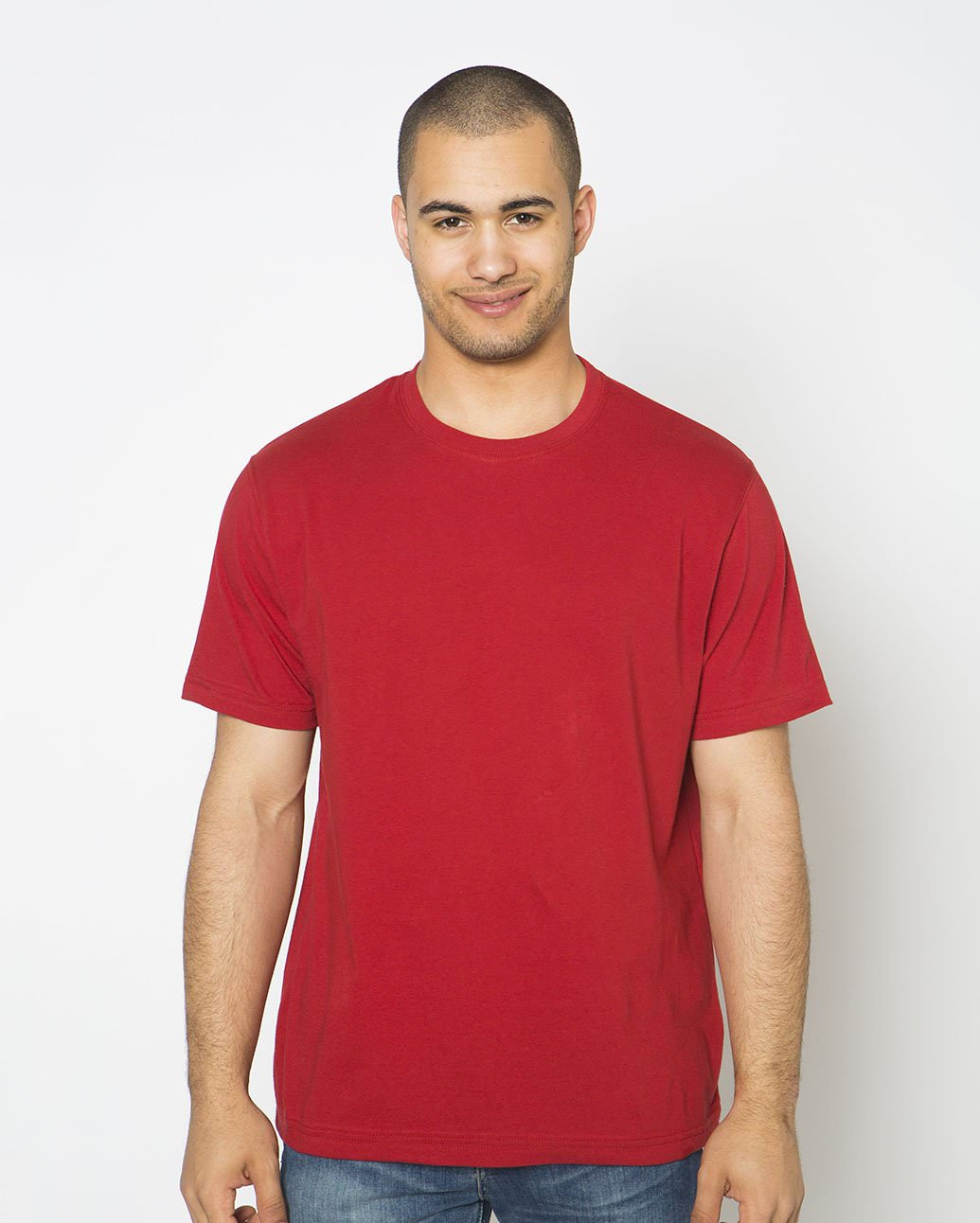 T-Shirt Men's  Short Sleeve 100% Cotton Ruby Red