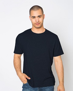 T-Shirt Men's Short Sleeve 100% Cotton Dark Navy