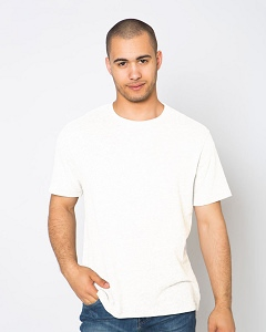 T-Shirt Men's Short Sleeve 100% Cotton White