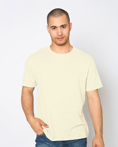 T-Shirt Mens' Short Sleeve 100% Cotton Natural