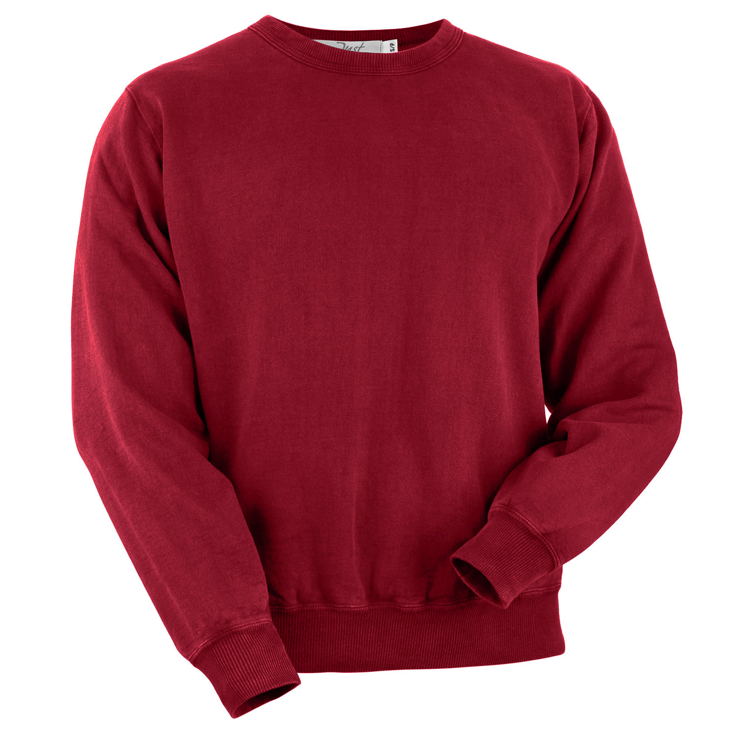 Crewneck Ruby Red 100% Cotton