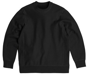 PRIVÉ Crewneck Black 100% Cotton