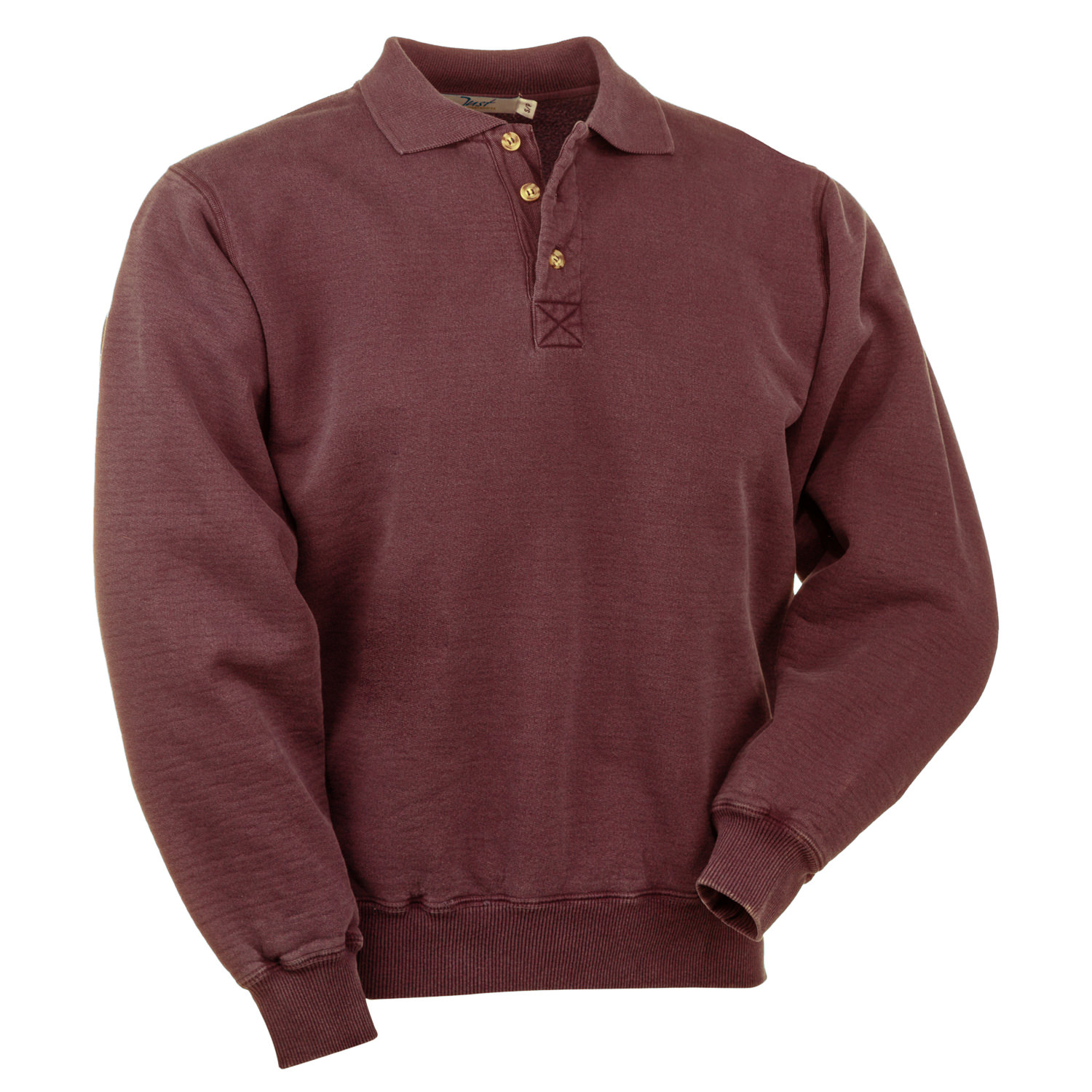 3 Button Polo Burgundy Sand 100% Cotton
