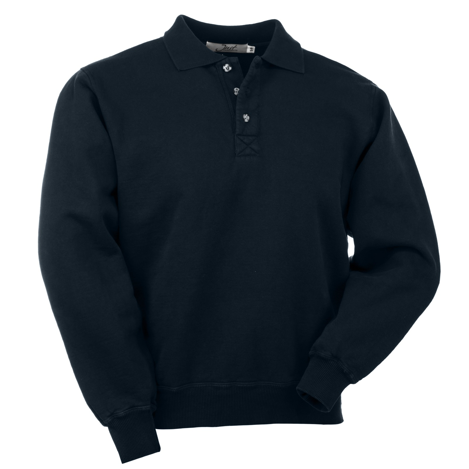 3 Button Polo Dark Navy 100% Cotton