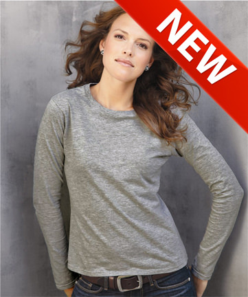 Ladies Classic 100% Cotton Long Sleeve T-Shirt