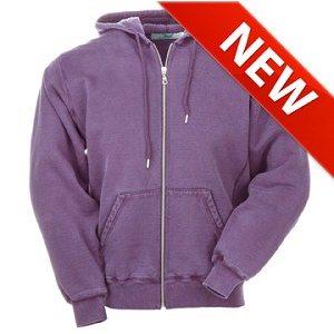 Hooded Full Front Zipper Plum Sand 100% Cotton