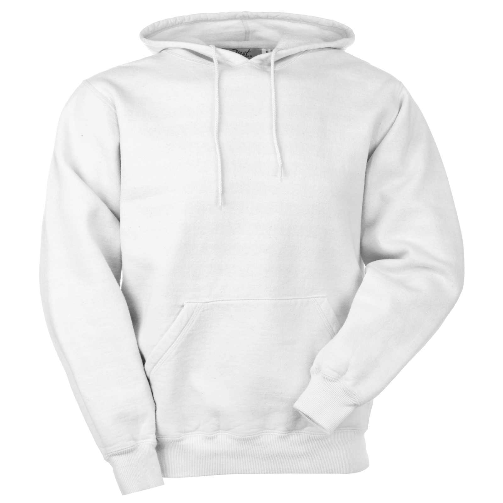 Hooded Pullover White 100% Cotton