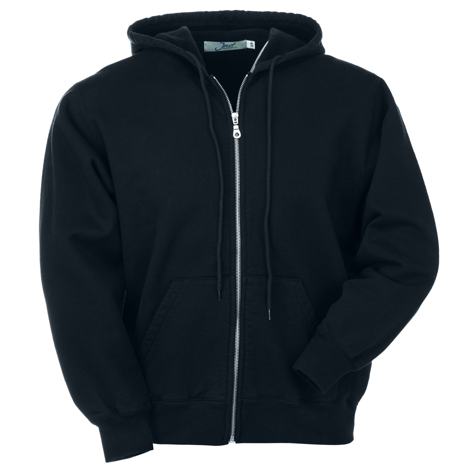 Hooded Full Front Zipper Navy 100% Cotton