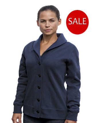 Ladies Cardigan 100% Cotton Fine French Terry SALE