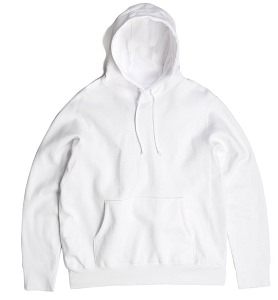 PRIVE Hoodie White 100% Cotton