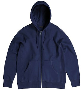 PRIVÉ Hooded Zipper Navy 100% Cotton